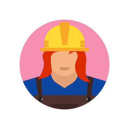 Builder icon vector isolated on white background for your web and mobile app design, Builder logo concept Vettoriali