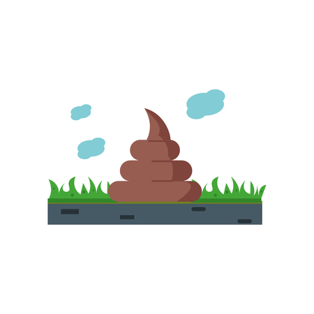Poo icon vector isolated on white background for your web and mobile app design, Poo logo concept Ilustração