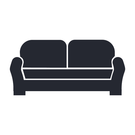 Sofa icon vector isolated on white background for your web and mobile app design, Sofa logo concept