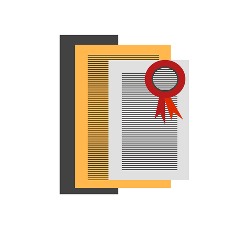 Certification icon vector isolated on white background for your web and mobile app design, Certification logo concept