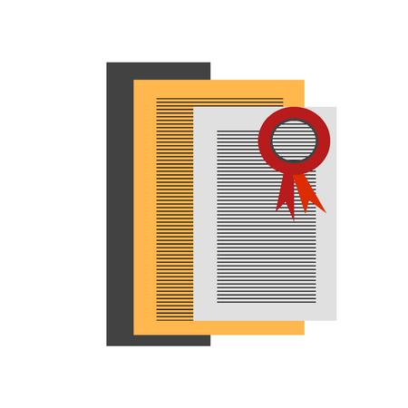 Zertifizierungssymbolvektor lokalisiert auf weißem Hintergrund für Ihr Web- und mobile App-Design, Zertifizierungslogokonzept