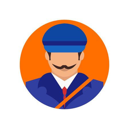 Vecteur d'icône postier isolé sur fond blanc pour votre web et la conception de l'application mobile, concept logo Postman