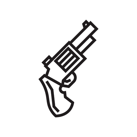 Pistol icon vector isolated on white background for your web and mobile app design, Pistol logo concept Stock Vector - 106937018