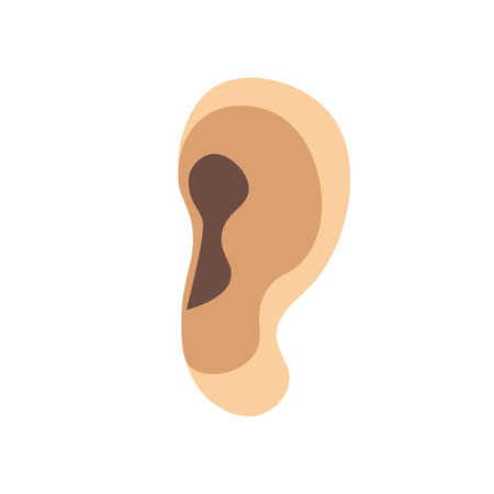 Ear icon vector isolated on white background for your web and mobile app design, Ear logo concept