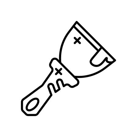 Skrobak wektor ikona na białym tle na białym tle do projektowania aplikacji internetowych i mobilnych, koncepcja logo skrobak
