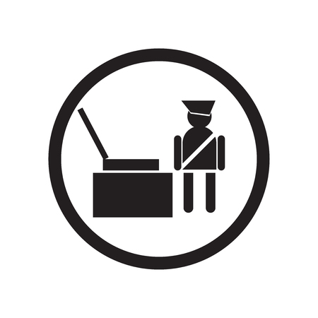 Vector icono de comprobación de aeropuerto aislado sobre fondo blanco para su diseño web y aplicaciones móviles, concepto de logo de comprobación de aeropuerto