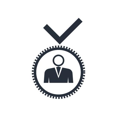 Vecteur d'icône de candidat isolé sur fond blanc pour la conception de votre application web et mobile, concept de logo de candidat