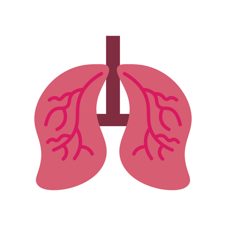 Lungs icon vector isolated on white background for your web and mobile app design, Lungs logo concept