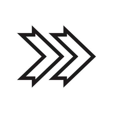 Vecteur d'icône flèche droite isolé sur fond blanc pour la conception de votre application web et mobile, concept logo flèche droite Logo