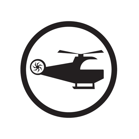 Heliport icon vector isolated on white background for your web and mobile app design, Heliport logo concept