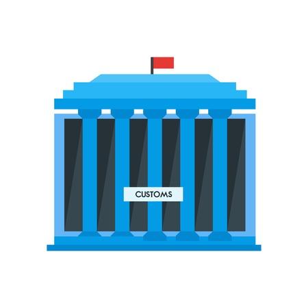 Vector icono de aduanas aislado sobre fondo blanco para su diseño web y aplicaciones móviles, concepto de logotipo de aduanas