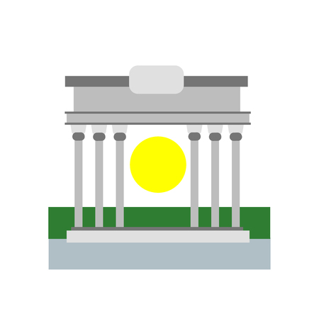 Brandenburg gate icon vector isolated on white background for your web and mobile app design, Brandenburg gate logo concept
