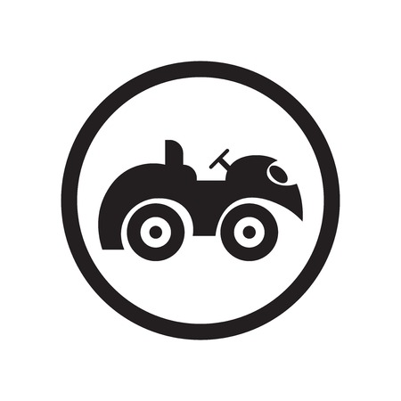 Quad Bike Sign icon vector isolated on white background for your web and mobile app design, Quad Bike Sign logo concept