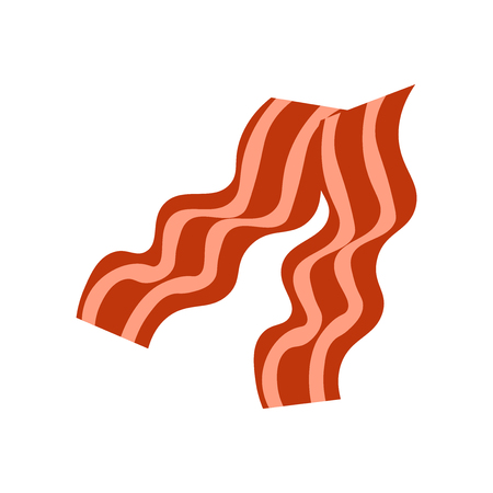 Bacon icon vector isolated on white background for your web and mobile app design, Bacon logo concept