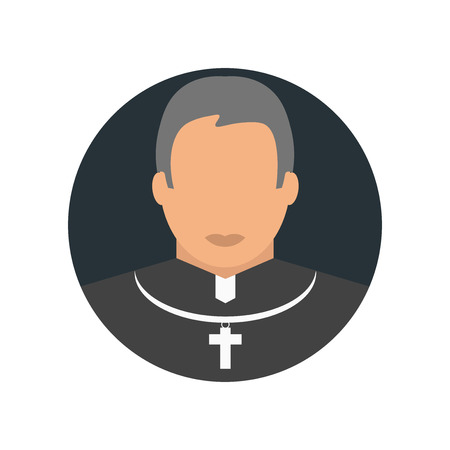 Priest icon vector isolated on white background for your web and mobile app design, Priest logo concept