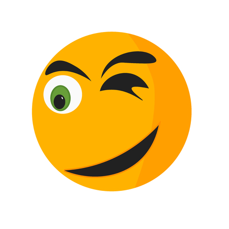Surprised smile icon vector isolated on white background for your web and mobile app design, Surprised smile logo concept