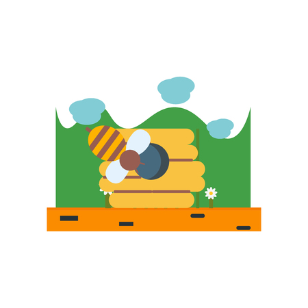 Beehive icon vector isolated on white background for your web and mobile app design, Beehive logo concept