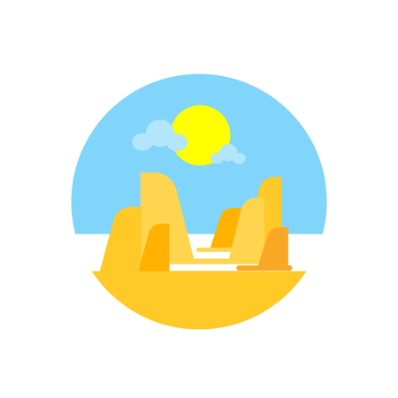Grand canyon icon vector isolated on white background for your web and mobile app design, Grand canyon logo concept