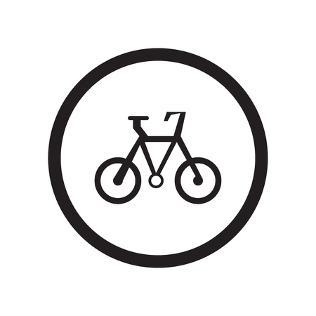 Bicycle sign icon vector isolated on white background for your web and mobile app design, Bicycle sign logo concept