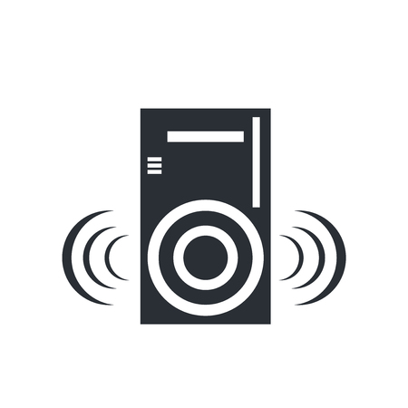 Speaker icon vector isolated on white background for your web and mobile app design, Speaker logo concept  イラスト・ベクター素材