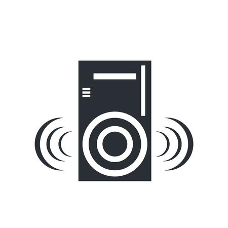 Speaker icon vector isolated on white background for your web and mobile app design, Speaker logo concept Illustration
