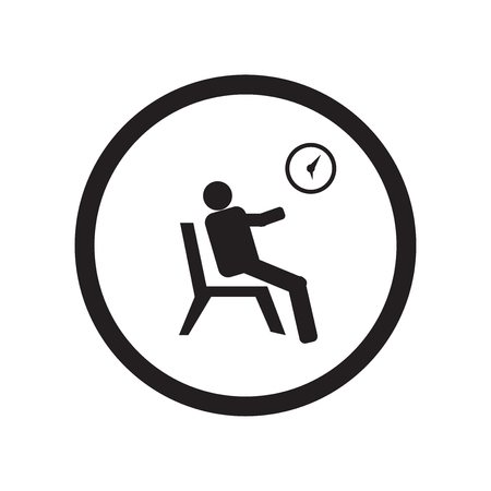 Waiting room icon vector isolated on white background for your web and mobile app design, Waiting room logo concept Vettoriali