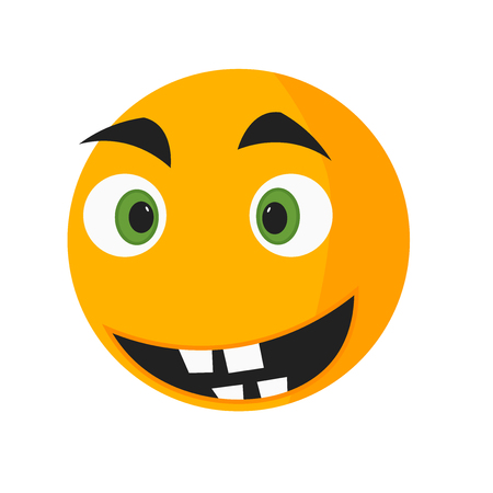 Nervous smile icon vector isolated on white background for your web and mobile app design, Nervous smile logo concept