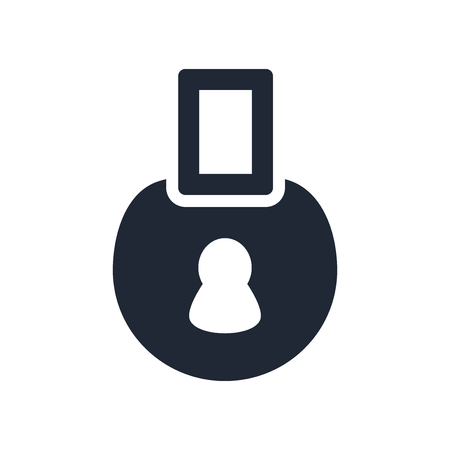 Padlock icon vector isolated on white background for your web and mobile app design, Padlock logo concept Illusztráció