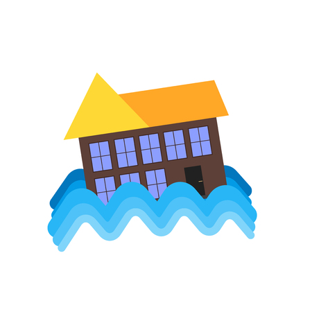 Flood icon vector isolated on white background for your web and mobile app design, Flood logo concept