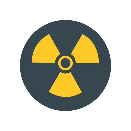 Nuclear icon vector isolated on white background for your web and mobile app design, Nuclear logo concept