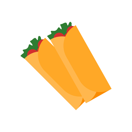 Burrito icon vector isolated on white background for your web and mobile app design, Burrito logo concept