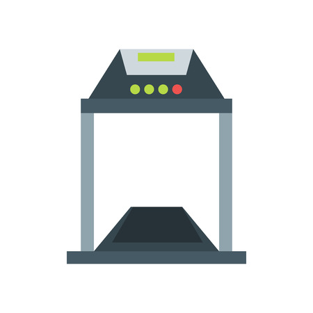 Treadmill icon vector isolated on white background for your web and mobile app design, Treadmill logo concept
