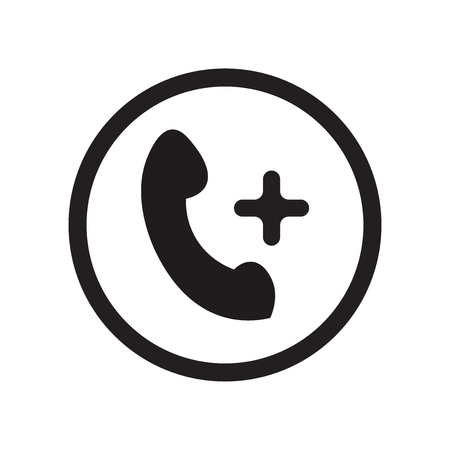 Add call icon vector isolated on white background for your web and mobile app design, Add call logo concept 일러스트