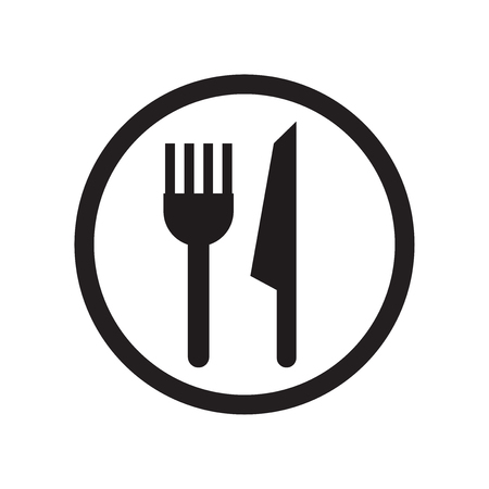 Restaurant sign icon vector isolated on white background for your web and mobile app design, Restaurant sign logo concept Illustration