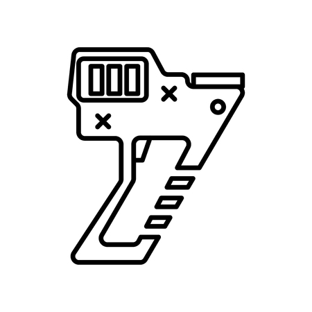 Nail gun icon vector isolated on white background for your web and mobile app design, Nail gun logo concept