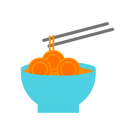 Noodles icon vector isolated on white background for your web and mobile app design, Noodles logo concept