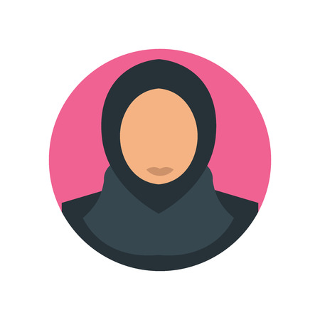 Arab woman icon vector isolated on white background for your web and mobile app design, Arab woman logo concept