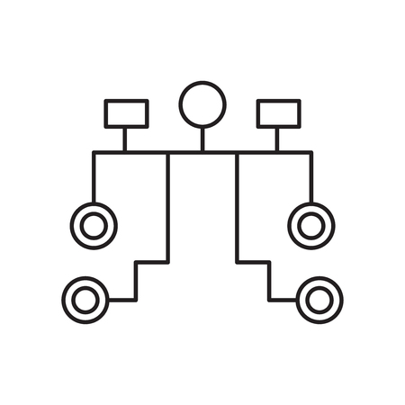 Hierarchical structure icon vector isolated on white background for your web and mobile app design, Hierarchical structure logo concept