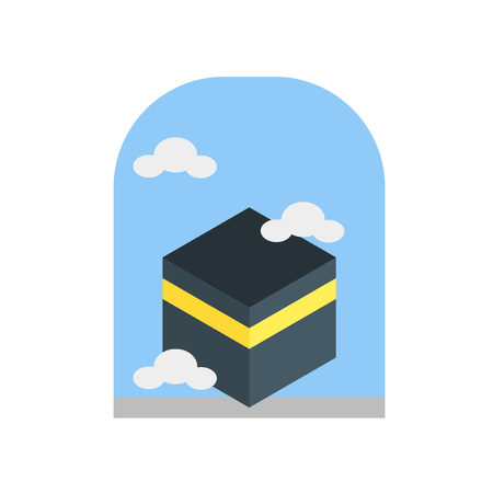 Kaaba icon vector isolated on white background for your web and mobile app design, Kaaba logo concept