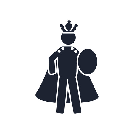 Emperor icon vector isolated on white background for your web and mobile app design, Emperor logo concept