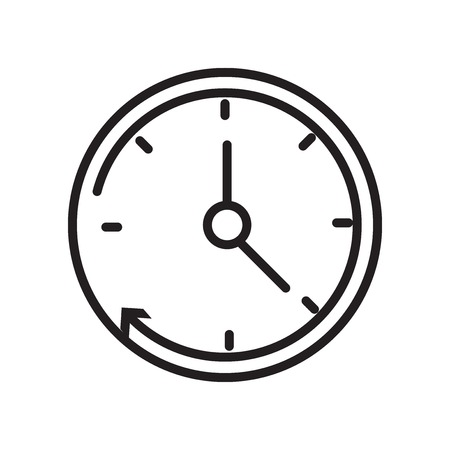 Clock icon vector isolated on white background for your web and mobile app design, Clock logo concept Ilustrace
