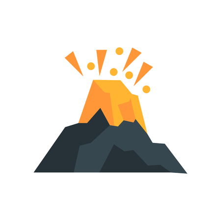 Volcano icon vector isolated on white background for your web and mobile app design, Volcano logo concept