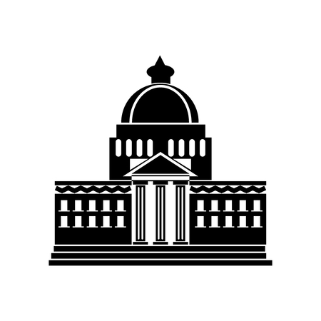 White house icon vector isolated on white background for your web and mobile app design, White house logo concept Illustration