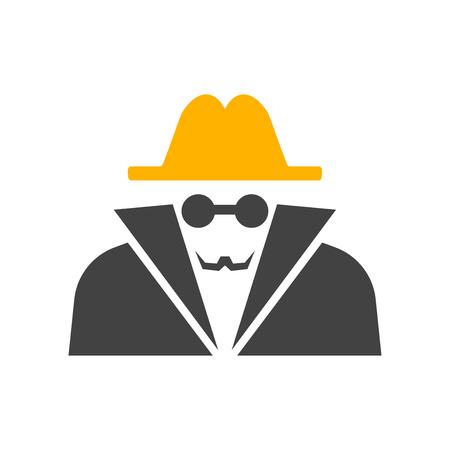 Vecteur d'icône d'anonymat isolé sur fond blanc pour la conception de votre application web et mobile, concept de logo d'anonymat