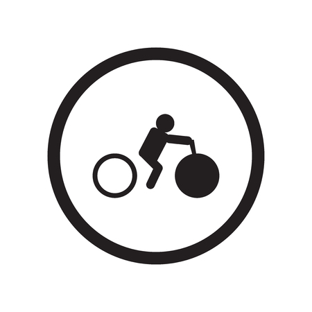 Bicycle rental icon vector isolated on white background for your web and mobile app design, Bicycle rental logo concept