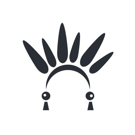 Vector icono indio aislado sobre fondo blanco para su diseño web y aplicaciones móviles, concepto de logotipo indio Logos