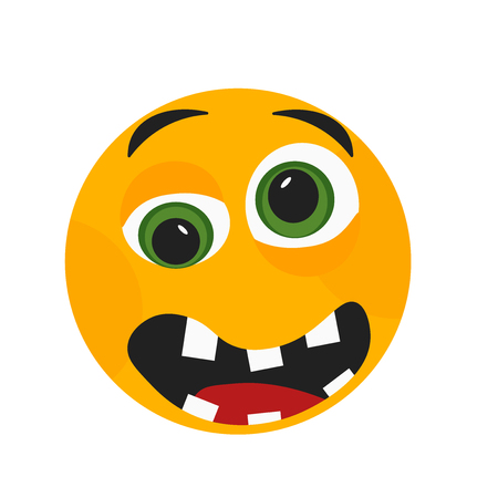 Sad smile icon vector isolated on white background for your web and mobile app design, Sad smile logo concept