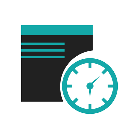 Window time symbol icon vector isolated on white background for your web and mobile app design, Window time symbol logo concept Illustration