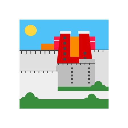 Potala palace icon vector isolated on white background for your web and mobile app design, Potala palace logo concept  イラスト・ベクター素材