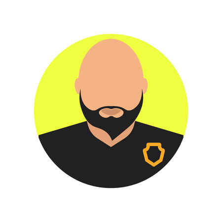 Bouncer icon vector isolated on white background for your web and mobile app design, Bouncer logo concept